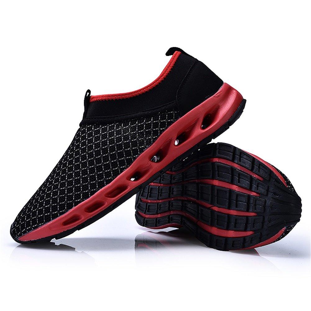Zapatos de agua Hombre respirable Zapatos de malla Zapatos de secado rápido Descalzo Nadar, Caminar, Yoga, Lago, Playa, Jardín, Parque, Conducir, Pasear en bote (Color : A, tamaño : 42) exing