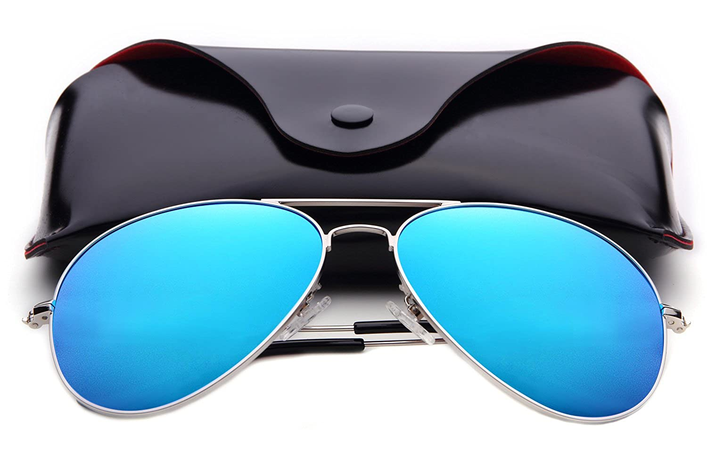 ANMIX Aviator Polarized Sunglasses for Men & Women with Eyeglasses Case - UV 400