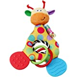 Miyaia Baby Teether Toys Soft Plush Rattles Toys, Giraffe