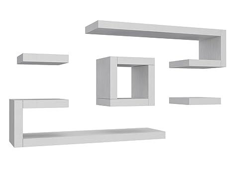 Legno Bianco Frassinato : Ve.ca italy mensola composizione ilary 4 cm in legno arredo casa