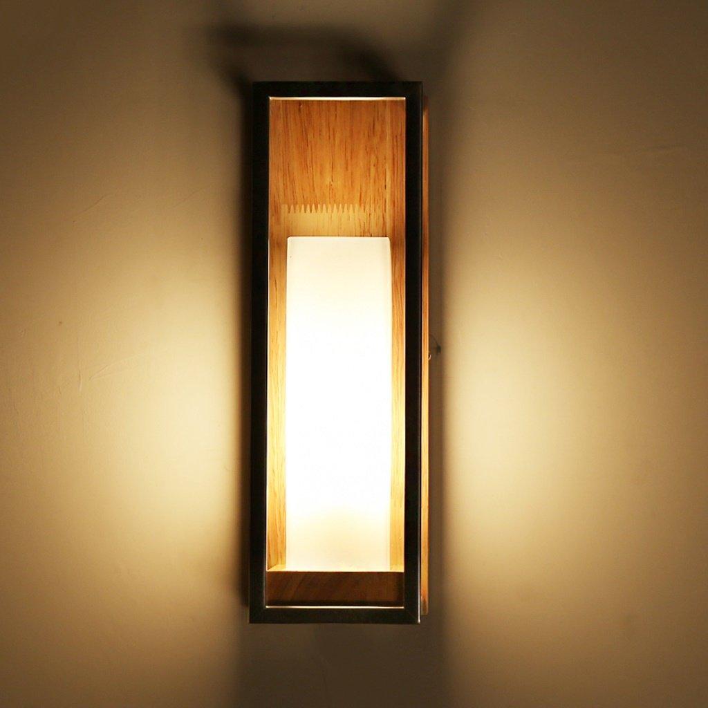 Good thing lampada da parete Semplice moderna Lampada da comodino creativa LED Soggiorno Corridoio Balcone lampada da letto nordico solido lampada da parete di legno