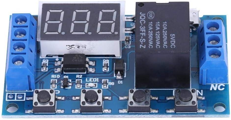 DC 6V ~ 30V Trigger Delay On//Off Cycle minuterie relais Module de commutation W//Digit LED Micro USB 5V Kit DIY Delay On//Off