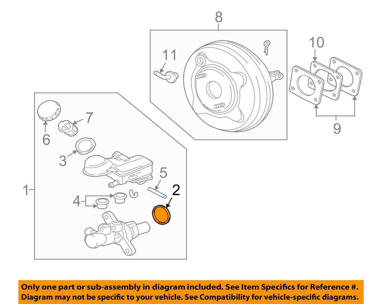 Mitsubishi 4625A099 Brake Master Cylinder Seal Kit
