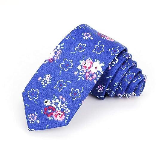 Corbatas Florales De Hombre For Hombre Corbata Delgada De Algodón ...