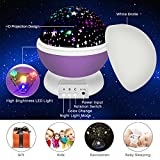 Night Lighting Lamp, Star Projector, soled Baby Night Light 360 Degree Rotation Moon Star Projector, 3 Mode Colorful LED Romantic Cosmos Projector, Gift for Children Kids Baby Nursery Room Decoration