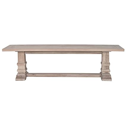 Enjoyable Amazon Com Hudson Large Dining Bench Stone Wash Table Squirreltailoven Fun Painted Chair Ideas Images Squirreltailovenorg