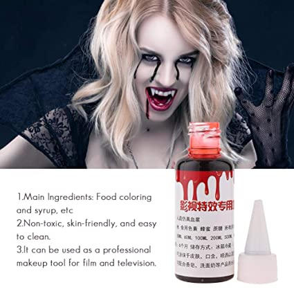 A869 Professional Style Gel Blood Halloween Costume Make Up Scar Fake Blood