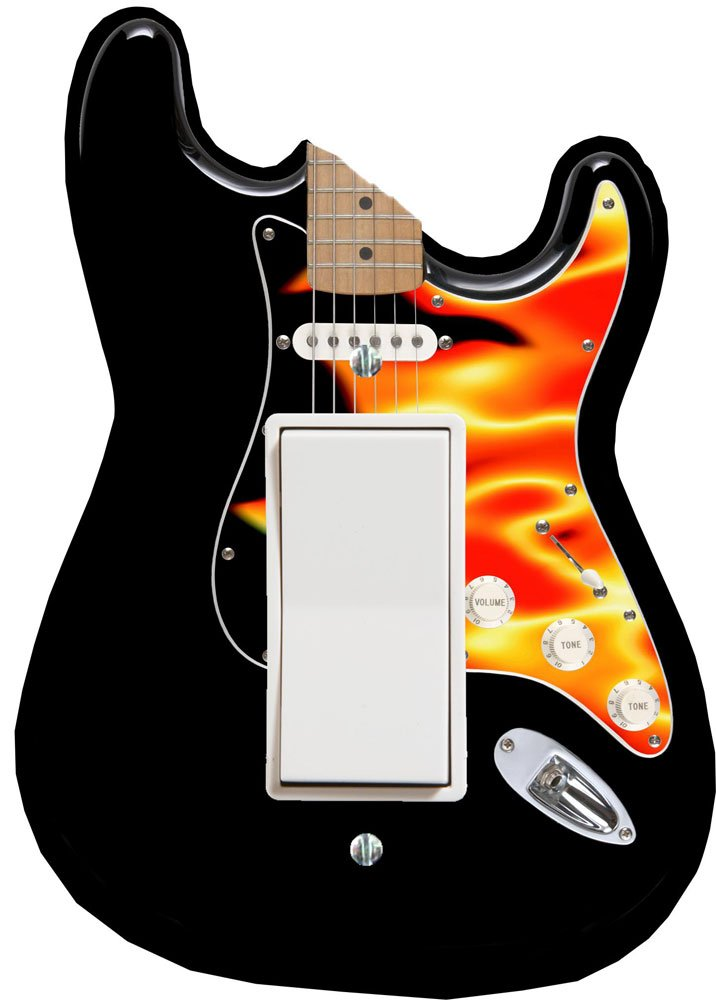 Music Treasures Co. Flame Electric Guitar DECORA Switch Plate Cover