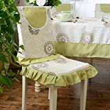 Edge to tablecloth Pastoral simplicity style thick tablecloth Western food cloth coffee cloth cloth dust cloth (Color : Dance, Size : (Cushion+backrest) 1)