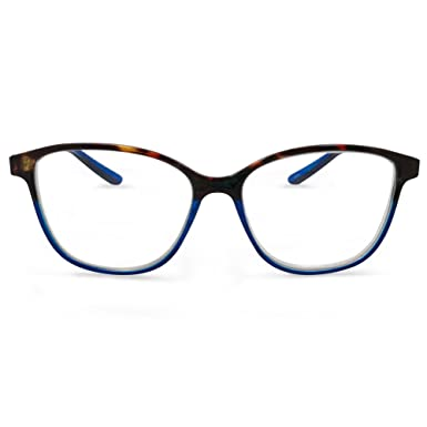 d680dcb857b9 Amazon.com  In Style Eyes Cateye Two Tone Reading Glasses Tortoise ...