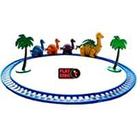 Playking Smart Toys Happy Dinosaur Train Set, Multicolor Funny Dino Train for Kids 1+, Battery Operated