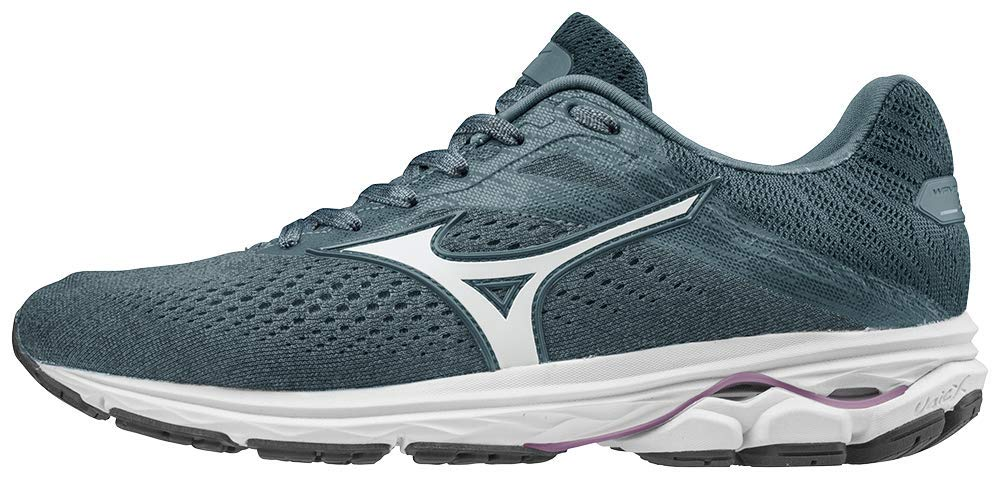 Mizuno Women's Wave Rider 23 Running Shoe, citadel-glacier gray, 9 B US by Mizuno