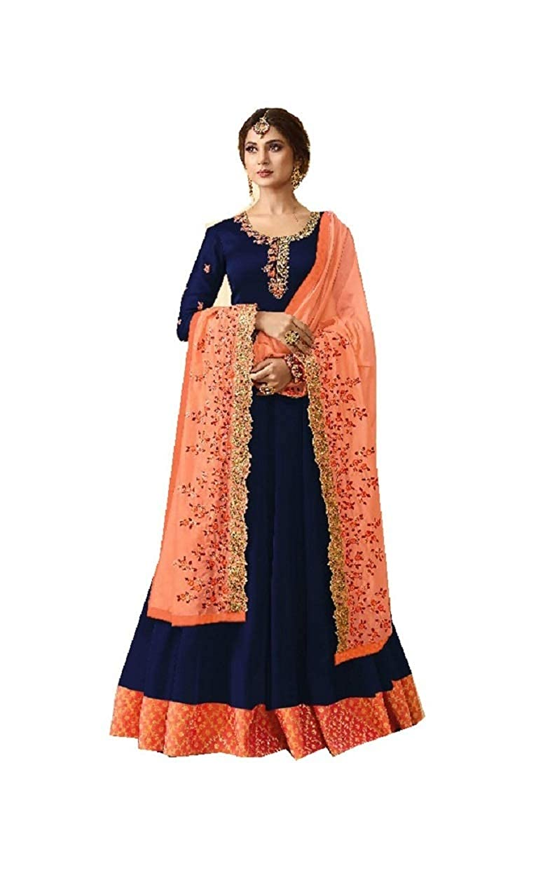 bluee ziya Women's Ethnic Indian Pakistani Aanarkali Salwar Kameez MUGDHA 405 Sky bluee