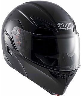 agv compact flip front motorcycle helmet matt black small 55
