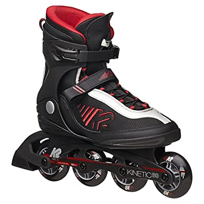 K2 Skate Men's Kinetic 80 Inline Skates, Black, 6 : Sports & Outdoors