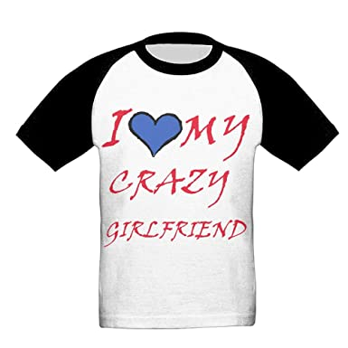 Amazoncom I Love My Crazy Girlfriend Kids Youth Boys Raglan T