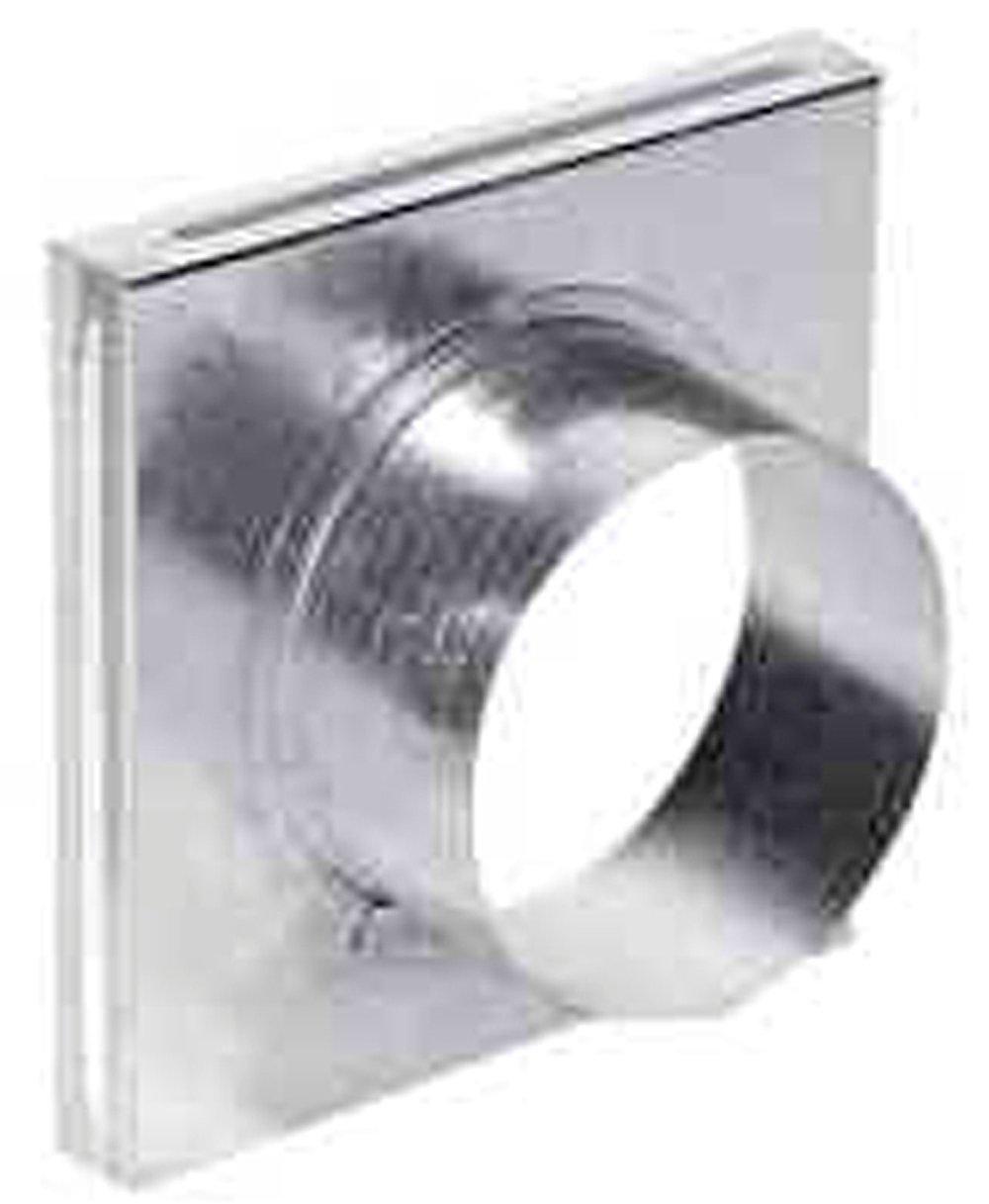 EMBOCADURA SIMPLE PARA REJILLA DE 17 X 17 CM para tubo de 80 mm de di/ámetro.