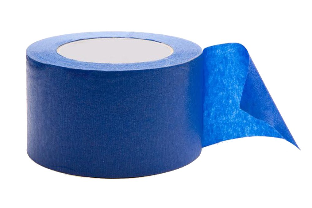 Hardex Blue Painter's Tape, 4 Inch Wide, Masking tape, Paint-line protector by Hardex (Image #1)