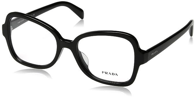 338f6ffad48 Amazon.com  Prada Unisex 0PR 25SVF Black One Size  Clothing