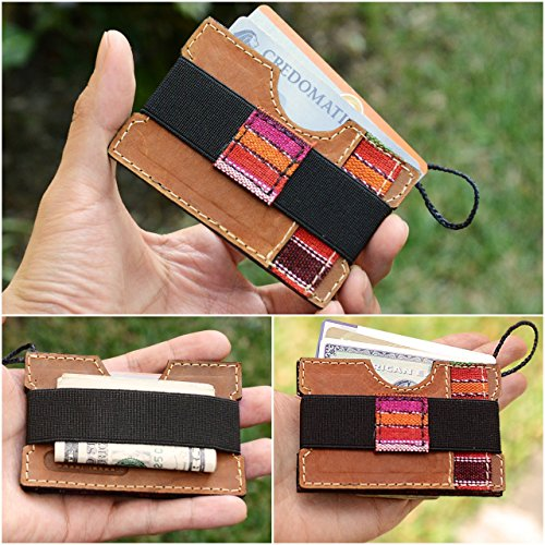 Guatemalan Handmade Genuine Leather Minimalist Wallet, Slim Wallets for men and women - IKTAN