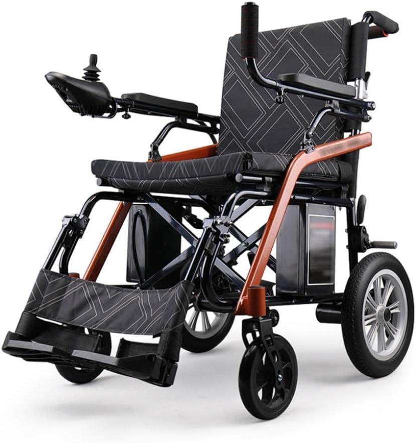 YBAVBAE - Silla de ruedas eléctrica plegable y ligera, 4 ruedas, inteligente, multifunción, multifunción, plegable, silla de ruedas para personas mayores con discapacidad (tamaño: 24 V12 A)