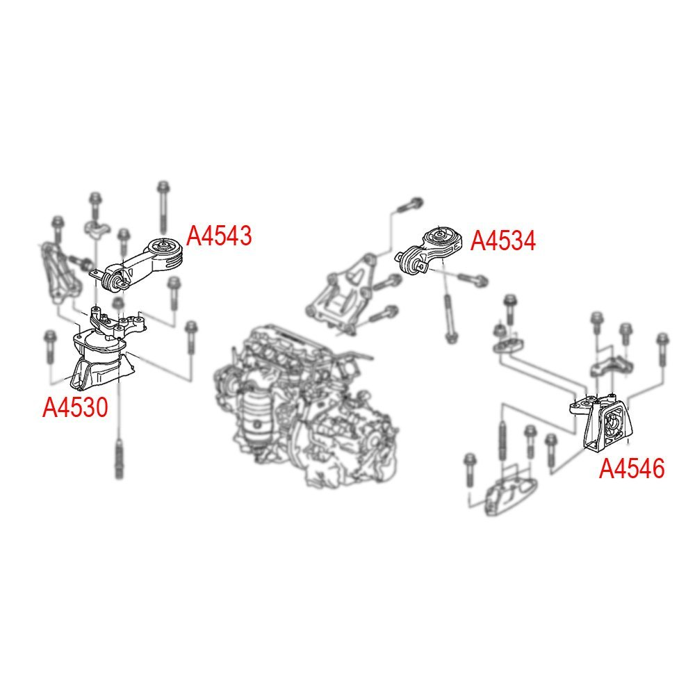 Engine Torque Strut Mount 4543 Front Upper For Honda Civic 2006-2011 1.8L Auto