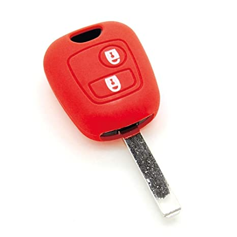 Funda de llave de silicona para Peugeot 107 206 207 306 307 Partner Expert