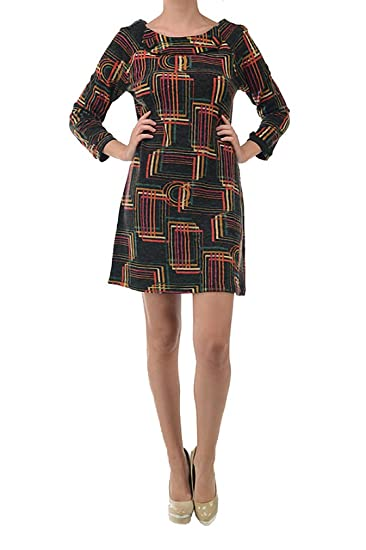 e16bf1023d6 Aryeh Women s Printed Sweater Dress at Amazon Women s Clothing store