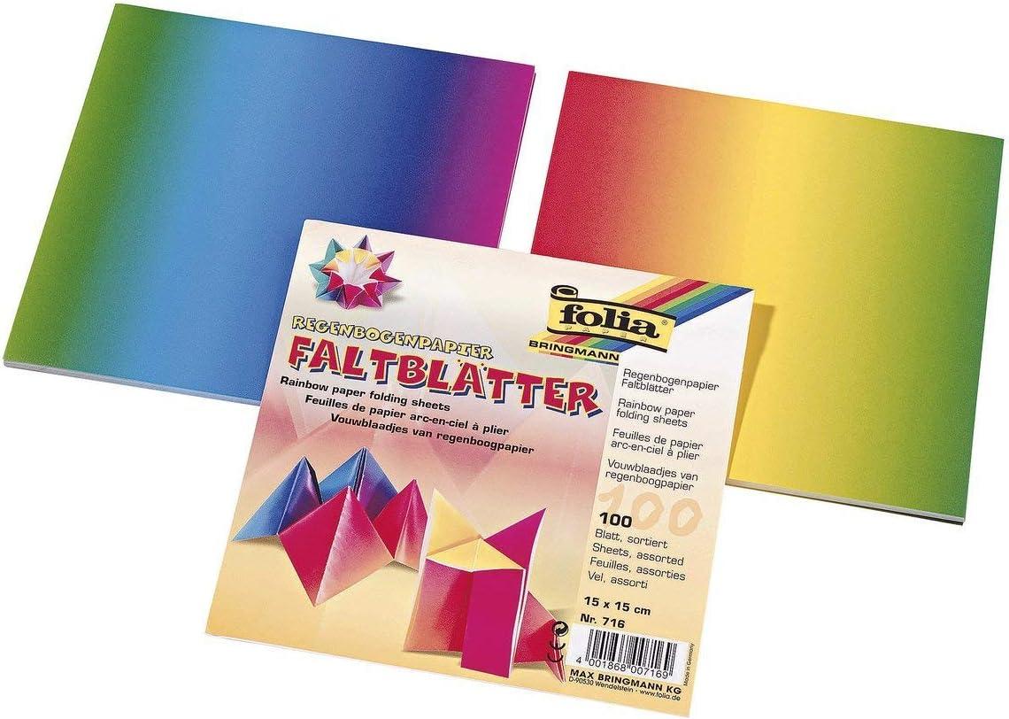 Card Multi-Coloured 20 x 20 cm Global Art Folia Origami Paper x 8-inch 500 kg
