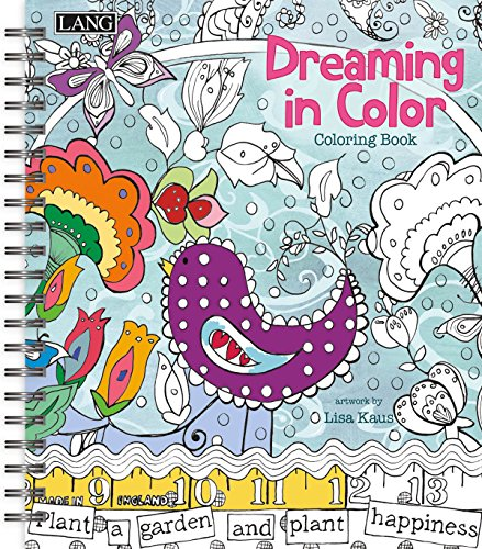 Amazon Lang Dreaming In Color Coloring Book By Lisa Kaus 1020102 Office Products