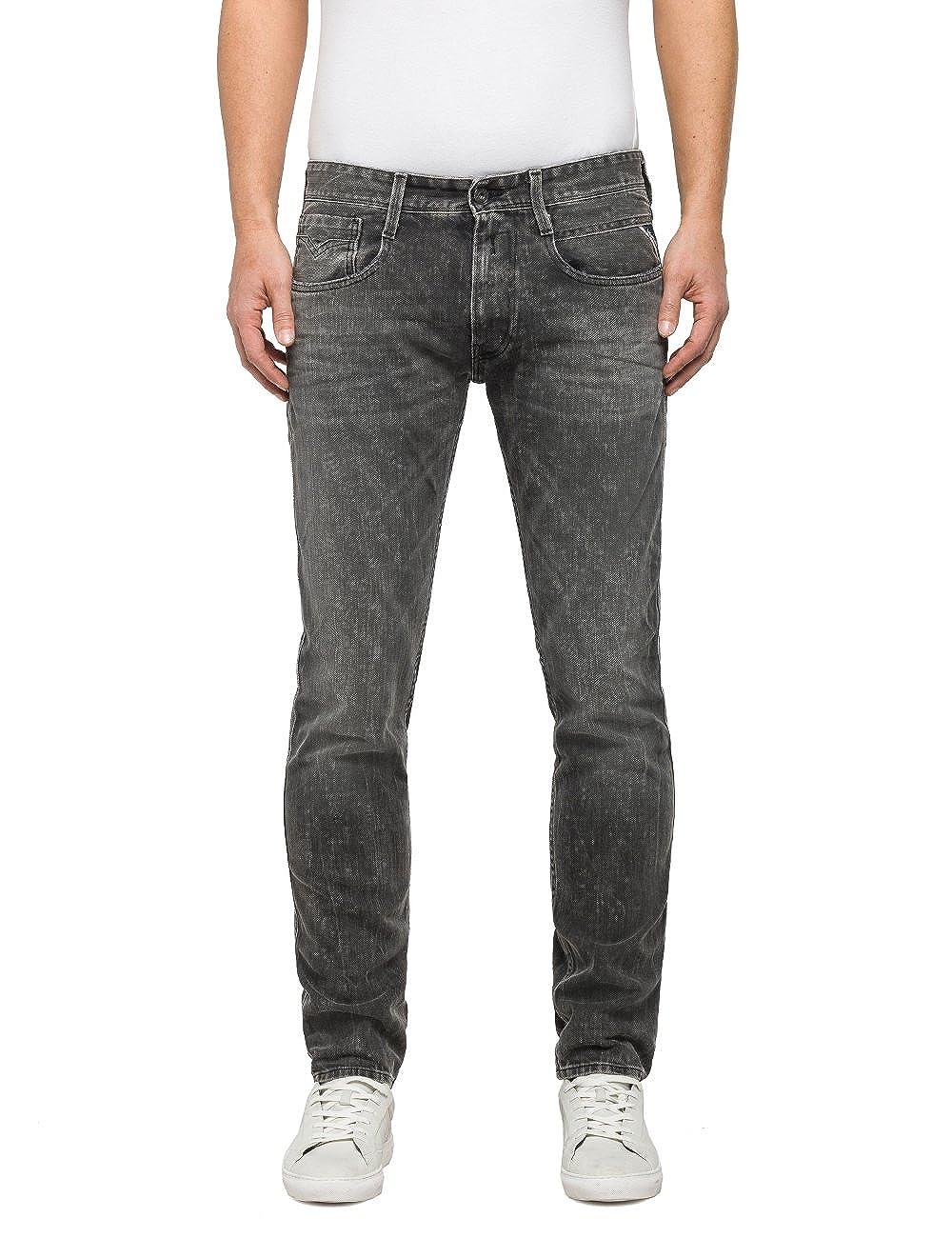 TALLA W32/L36 (Talla del fabricañote: 32). REPLAY Anbass Pantalones Vaqueros Delgados para Hombre