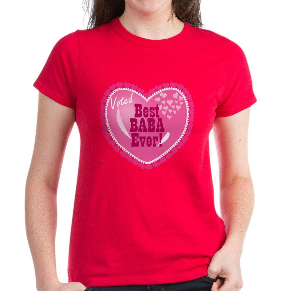 CafePress - Best Baba Ever Women's Dark T-Shirt - Womens Cotton T-Shirt
