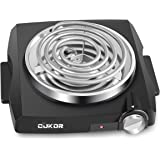 CUKOR Electric Single Coil Burner, Portable Hot Plate 1100 Watt Powered, Kitchen Cooktop with Non-Slip Rubber Feet - Perfect