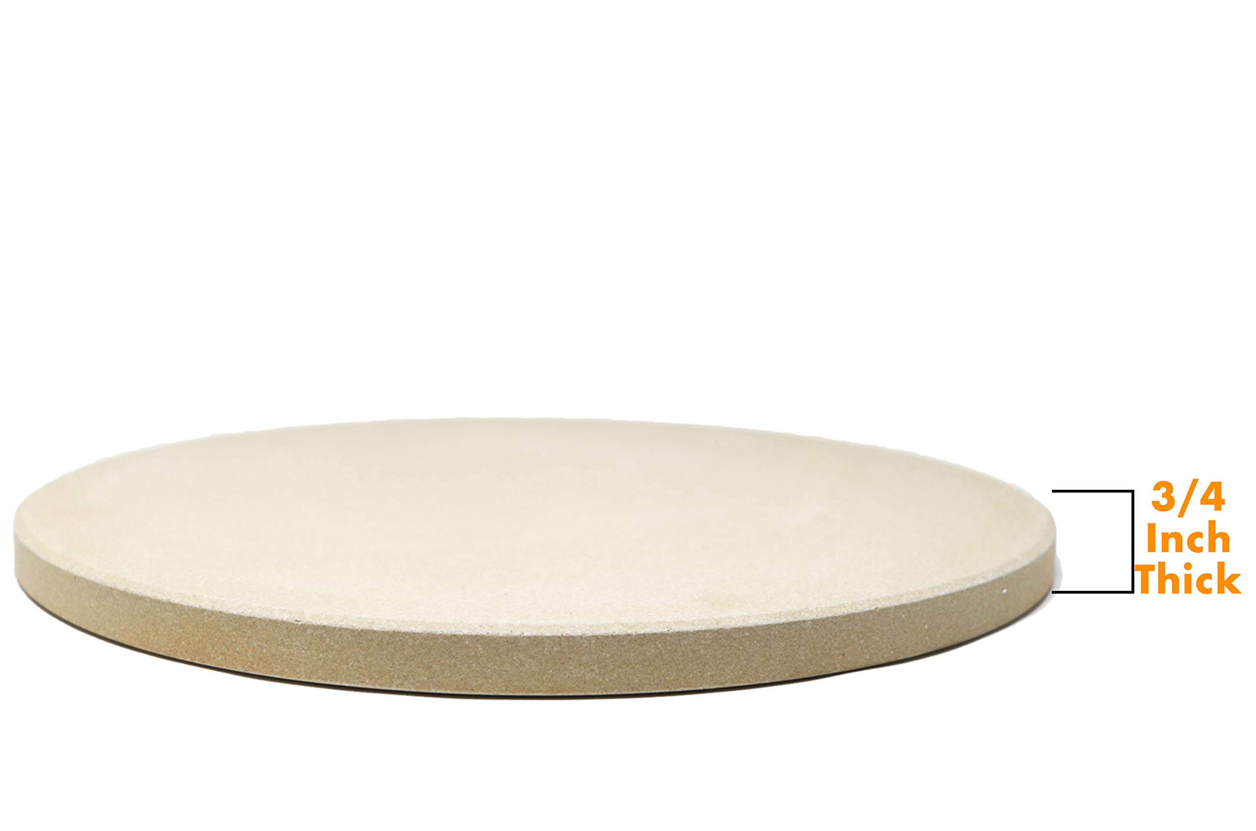 Aura Outdoor Products Extra Thick Pizza Stone - Perfect Crusts and Improved Heat Deflection