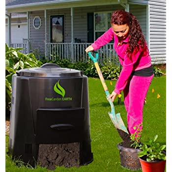 Amazon.com: Earth máquina Compost Bin: Home & Kitchen