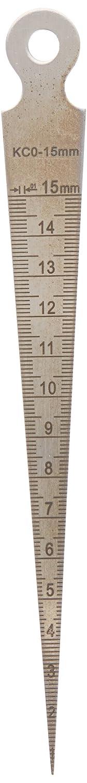 Sourcingmap A13111400ux0248 Pré cision de 0,1 mm É paisseur trou Gap Inspection Fuseau Jauge de soudure, 1– 15 mm 1mm Épaisseur trou Gap Inspection Fuseau Jauge de soudure 1-15mm unknown