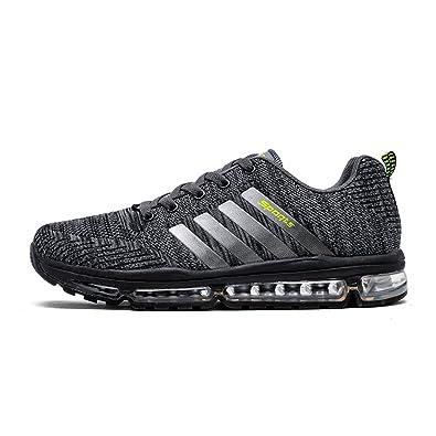 2c5807ef490c03 Fexkean Unisex Sportschuhe Laufschuhe Turnschuhe Atmungsaktiv Sneakers Air  Sport Casual Shoes Herren Damen (8068Grey39)