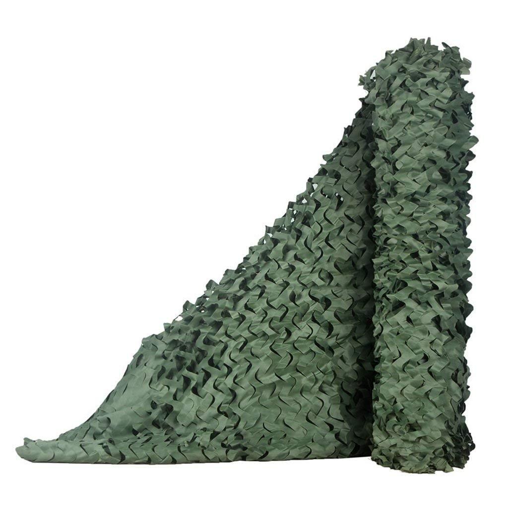 88M(26.226.2ft) ATR Filet de Camouflage, Dense et Solide, Ajoutez Un Filet de renforceHommest approprié pour l'ombrage de Camping extérieur Camo et la décoration de Jardin Multiples, Vert Pur