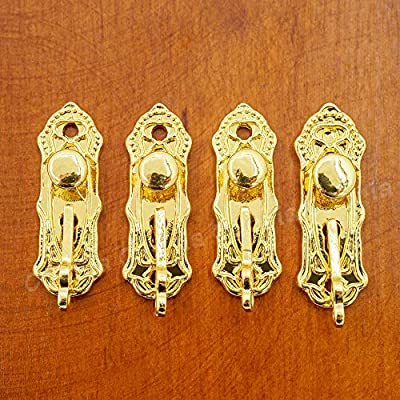 Odoria 1:12 Miniature Golden Door Lock and Key 4 Sets in 1 Pack Dollhouse Decoration Accessories: Toys & Games