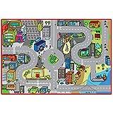 La Nuova Faro - 077980 - Tapis De Jeux Pour Enfants - Circulation Urbaine - 80 X 120 Cm