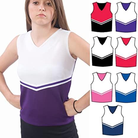 Amazon.com   Pizzazz Black White Cheer Uniform Top Girls 2-4 ... 737f8e584