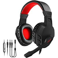 NUBWO Gaming Headset, Xbox One PS4 Headset, Noise Cancelling Over Ear Gaming Headphone Mic, Comfort Earmuffs…