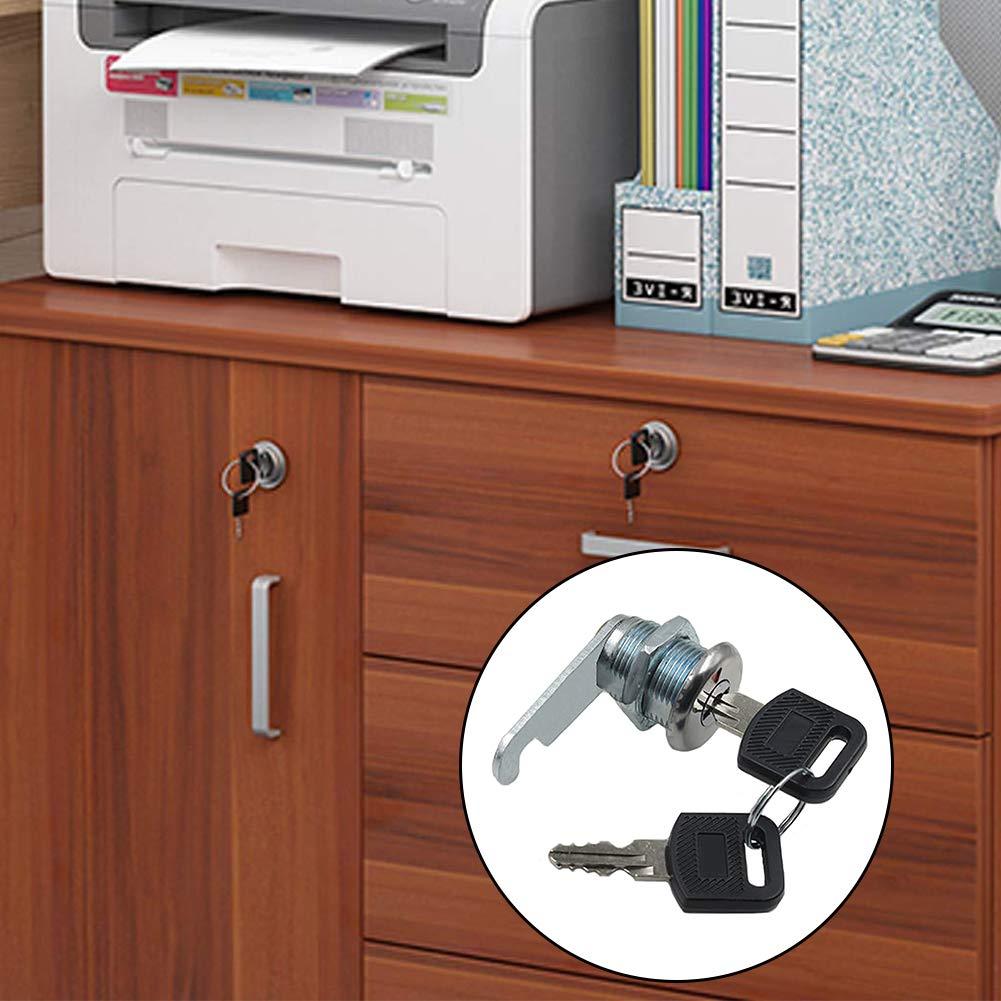 BETOY 4 Cerradura de seguridad para buz/ón Bloqueo de leva seguridad cerradura leva 20 mm con llaves para gabinete alacena buz/ón caj/ón puerta buz/ón