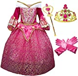 Princess Aurora Deluxe Pink Party Dress Costume (5-6)