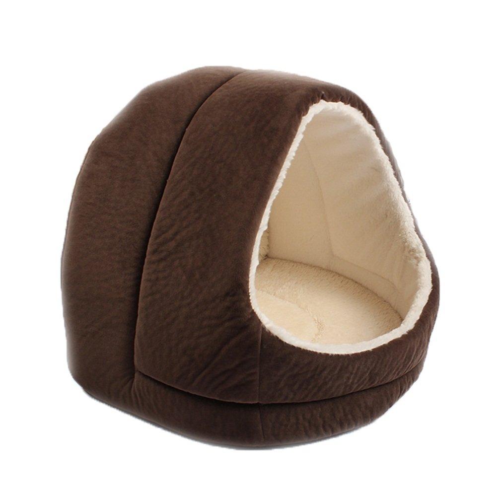 B JiaJia- Brown, Khaki cat Litter Kennel cave Comfortable Sleeping Bag Bed with Anti-Slip mat Four Seasons Universal Kitten Puppy pet nest (color   B)