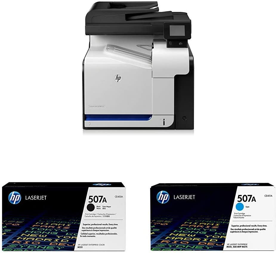 HP Laserjet Pro M570dn (CZ271A) with Toner Cartridge - 4 Colors