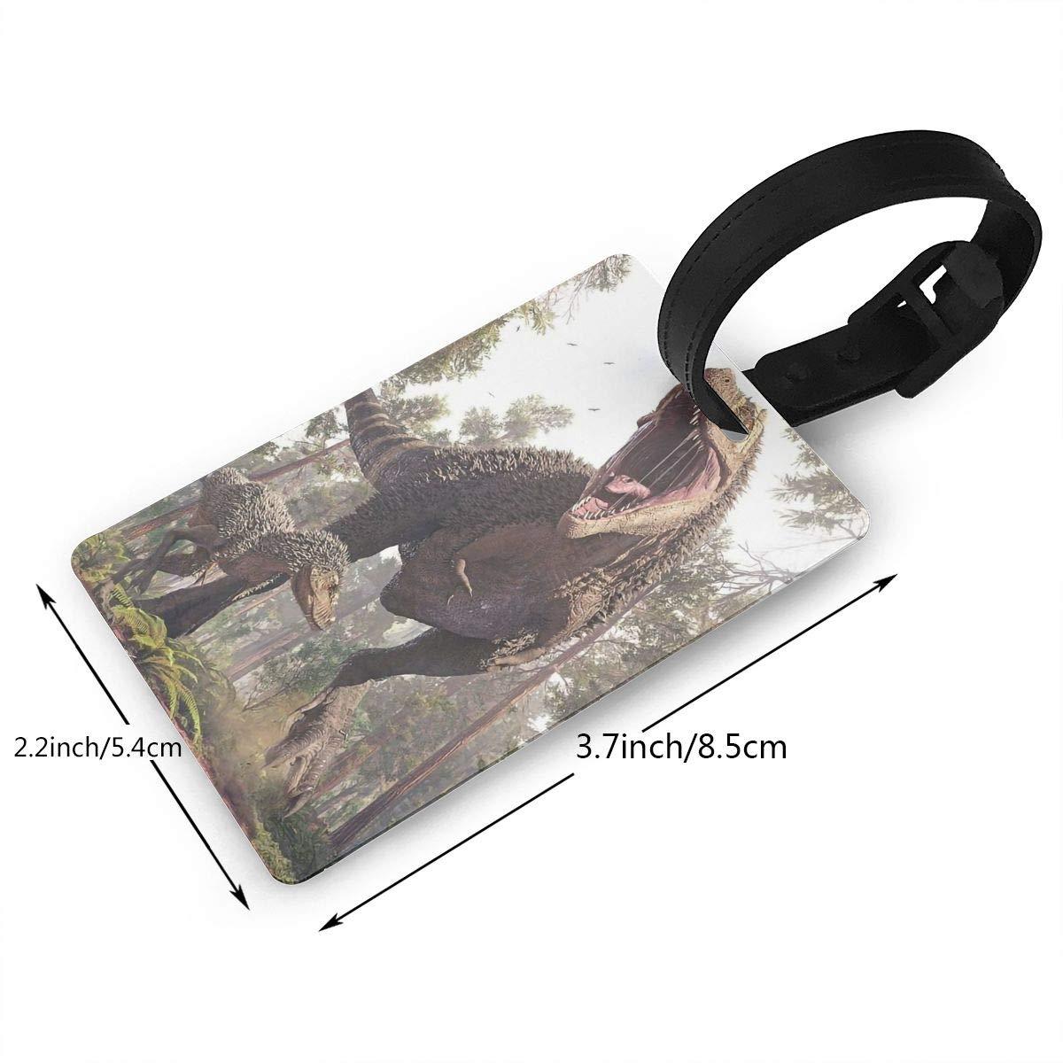 2 Pack Luggage Tags Dinosaur Handbag Tag For Travel Tags Accessories