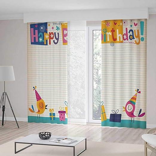 Cortinas de Sala de Estar, Decoraciones de cumpleaños para ...