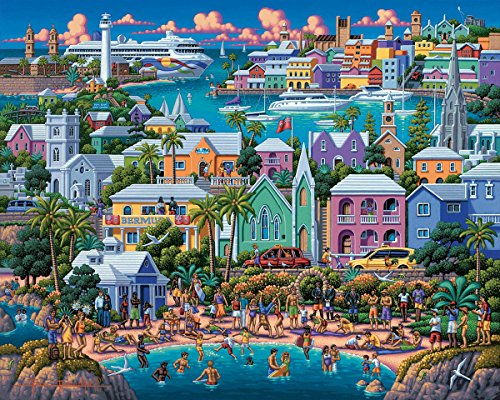 Dowdle Folk Art: Bermuda 500pc Puzzle - Beach 500pc Jigsaw Puzzle Shopping Results
