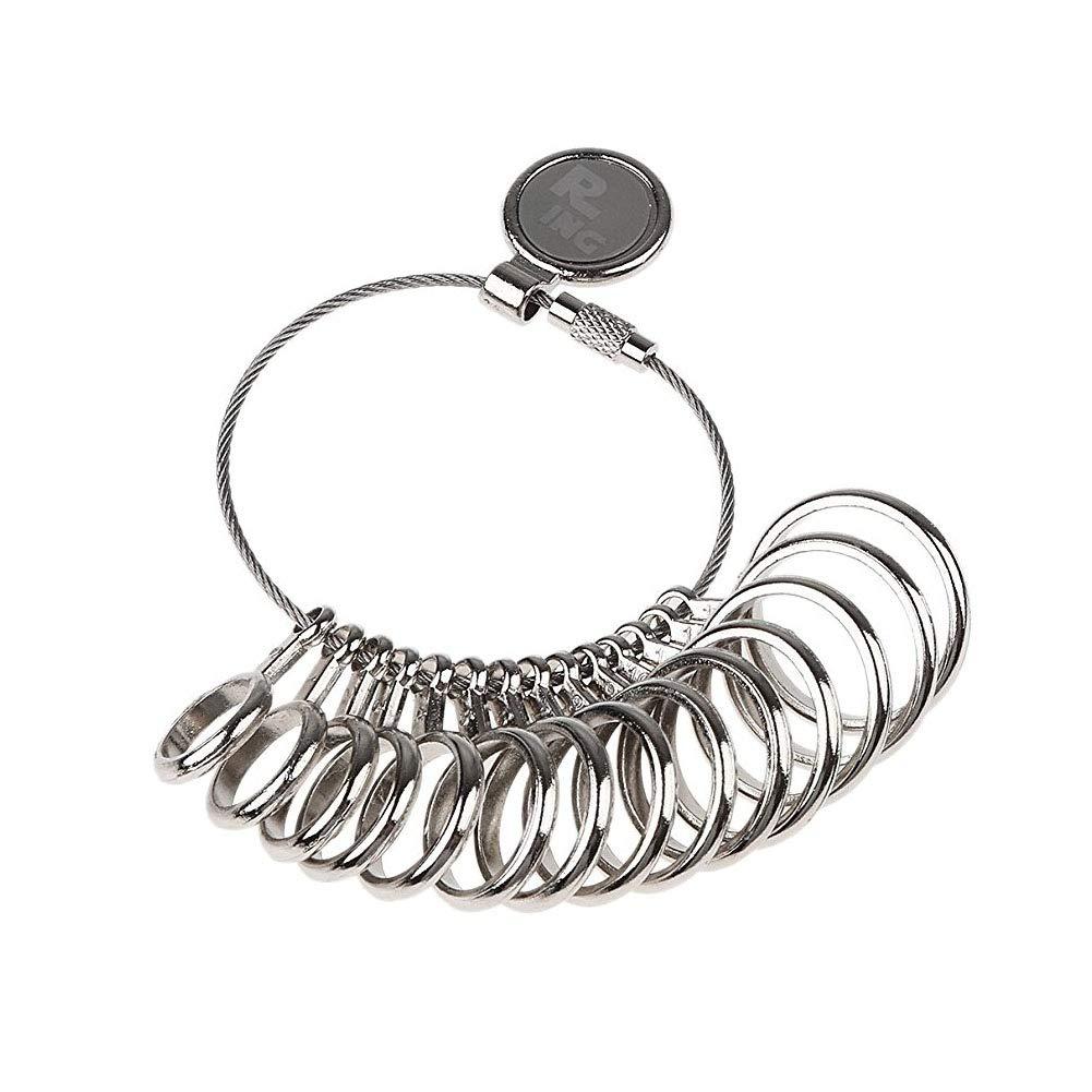Sungpunet en Alliage de Zinc Jauge de Doigt Baguier bijoutier Outil de Dimensionnement Taille US: 1–13